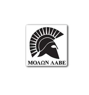 Hard hat stickers - Molon Labe Spartan Helmet