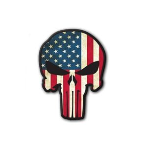 Hard hat stickers - Punisher American Flag