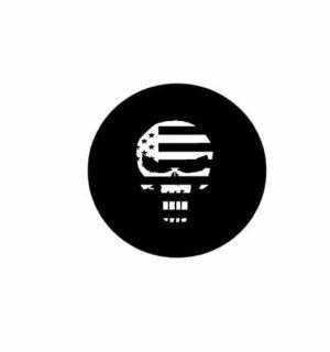 Hard hat stickers - Punisher Skull Flag