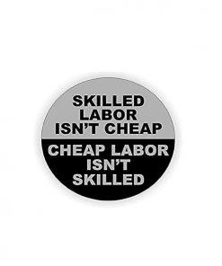 Hard hat stickers - Skilled Labor