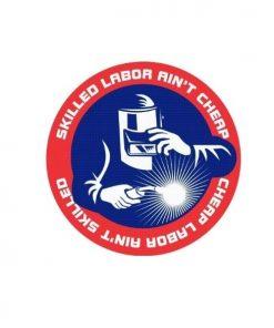 Hard hat stickers - Skilled Labor Welder
