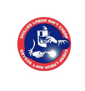 Hard hat stickers - Skilled Labor Welder