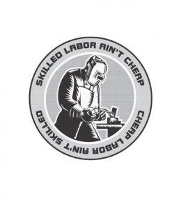 Hard hat stickers - Skilled Labor Welder ii