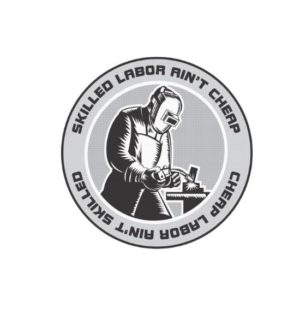 Hard hat stickers - Skilled Labor Welder ii