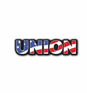 Hard hat stickers - Union American Flag