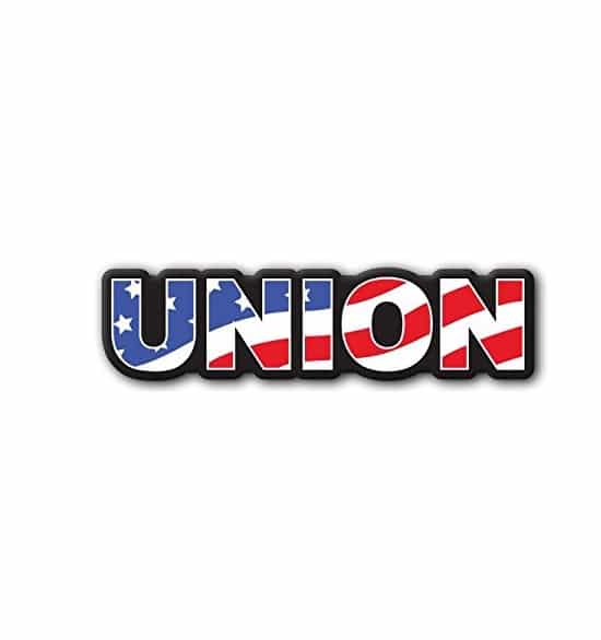 Union American Flag - set of 2 decals - Hard hat stickers