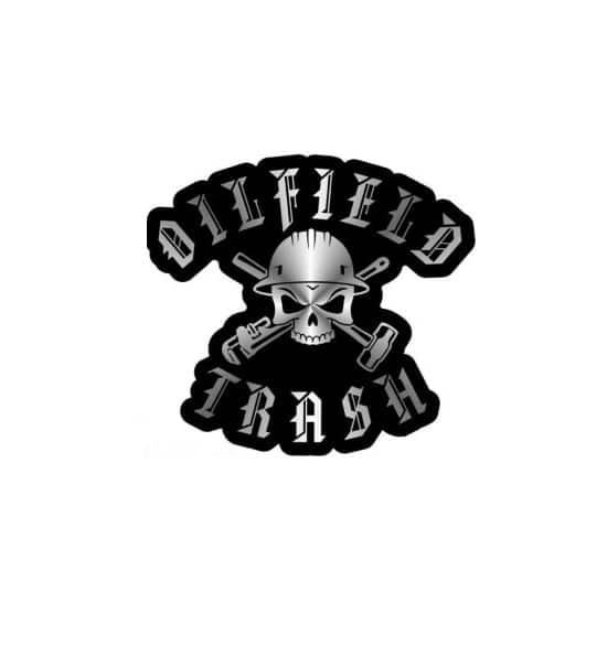 d367f2338 oilfield trash - set of 2 decals - Hard hat stickers