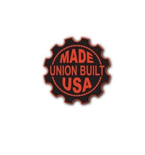 Hard hat stickers - union built