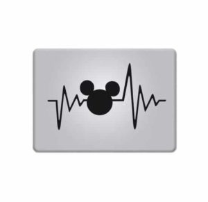 Laptop Stickers - Love Mickey Mouse Heartbeat - Decal