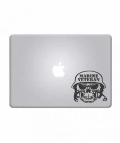 Laptop Stickers - Marine Veteran Skull - Decal