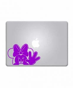Laptop Stickers - Minnie Mouse Waiving - Decal