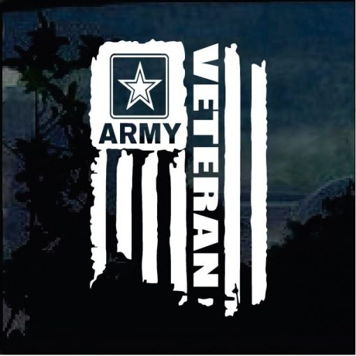 Military Decals – Veteran Army Weathered Flag Sticker