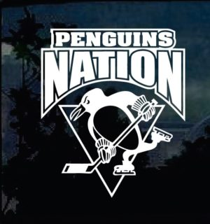 Pittsburgh Penguins Nation Decal Sticker