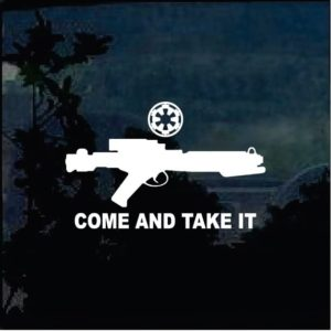 Truck Decals - Star Wars Blaster Come Take it Sticker