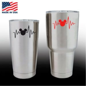Yeti Decals - Cup Stickers - Love Mickey Mouse Heartbeat