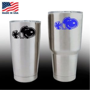 Yeti Decals - Cup Stickers - Snoopy Waiving