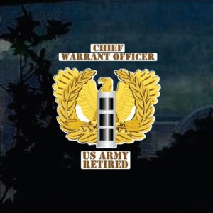 Military Decals - Chief Warrant Officers Army Retired