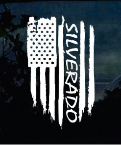 Cool Stickers - Chevy Silverado Weathered Flag Decal