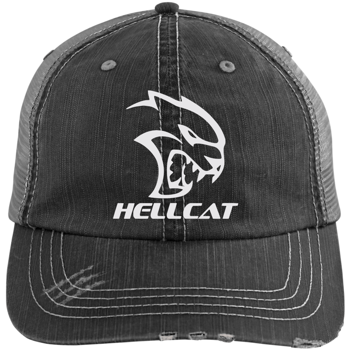86fa57020dfb01 Dodge SRT Hellcat Distressed Cap Hat – Custom Sticker Shop