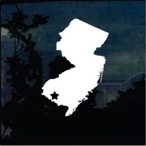 Truck Decals - New Jersey State Silhouette