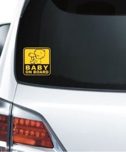 Baby on Board Sticker - Full color Baby with Bottle Decal