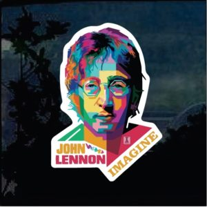 Band Stickers - John Lennon Full Color Decal