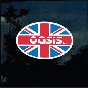 Band Stickers - Oasis uk Full Color Decal