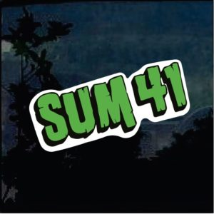 Band Stickers - Sum 41 Full Color Decal