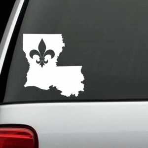 Car Decals - Louisiana Le Fleur De Lis Sticker