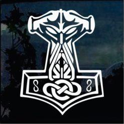 Car Decals - Thor's Hammer odin sticker
