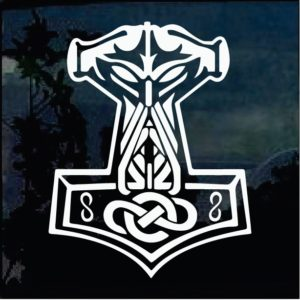 Car Decals - Thor's Hammer odin sticker
