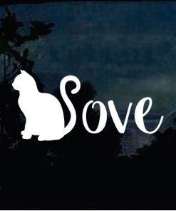 Cat Stickers - Cat Love Decal a1