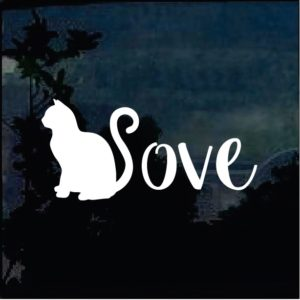 Cat Stickers - Cat Love Decal a1