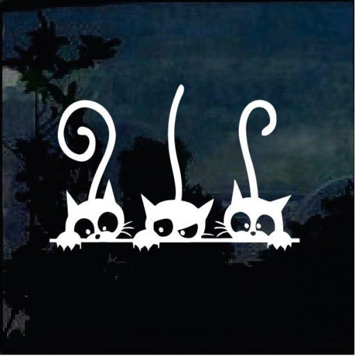 Cat Stickers - Cats Peeking Decal
