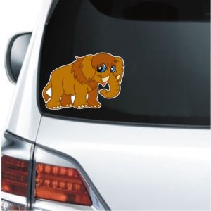 Cool Sticker - Ice Age Cartoon Mammoth Decal