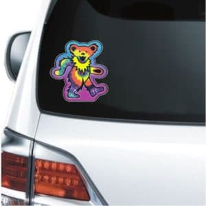 Cool Stickers - Grateful Dead Bear Decal