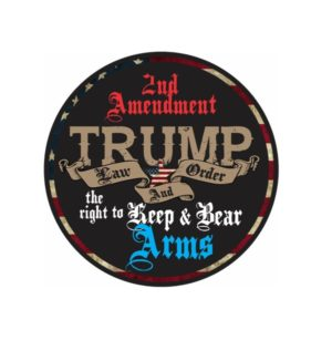 Cool Stickers - Trump Law and Order Decal