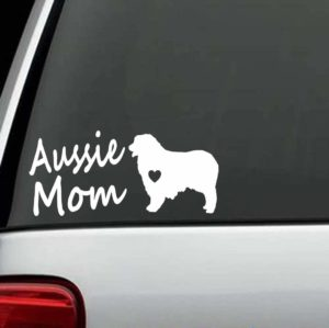Dog Stickers - Australian Shepherd Aussie Mom Decal