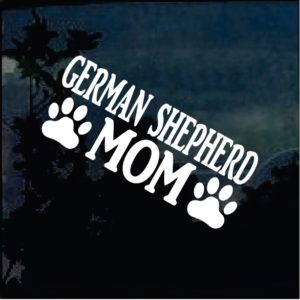 Dog Stickers - German Shepherd Mom Paws Decal