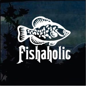 Fishing Decals - Fishaholic Sticker a1