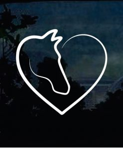 Horse Decals - Horse heart Sticker