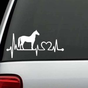 Horse Decals - Horse love Heartbeat Sticker