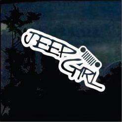 Jeep Decals - Jeep Girl a5 Sticker