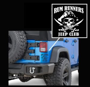 Jeep Decals - Rum Runners Skull Sticker
