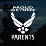 Air Force Proud Parents Military Window Decal Stickers A2