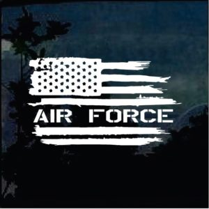 Military Decals - Air Force Weathered American Flag Sticker