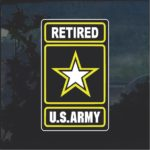 US Army Retired Full Color Military Window Decal Stickers