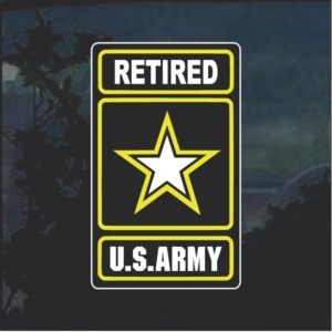 Military Decals - US Army Retired Full Color Sticker