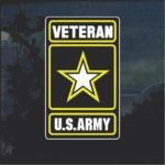 US Army Veteran Full Color Military Window Decal Stickers
