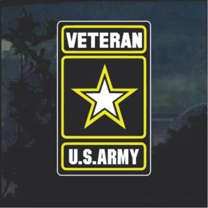 Military Decals - Army Veteran full color Sticker